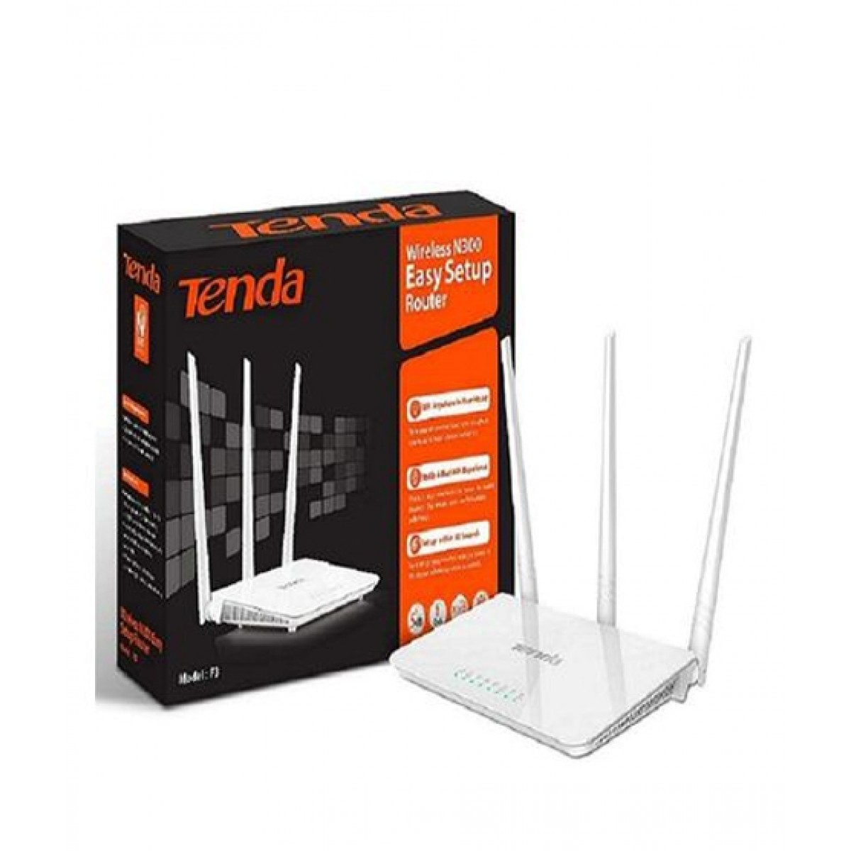 Tenda F3 300MBPS Wireless N Router (3xAntenna)